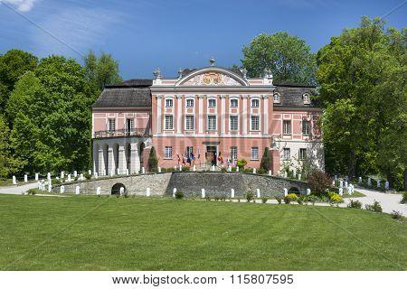 Kurozweki Palace In Southern Poland