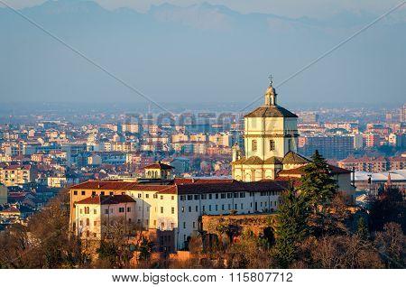 Turin (torino) Monte Dei Cappuccini E Chiesa Di Santa Maria Al Monte