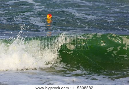 Sea Surf And Waves. Background.