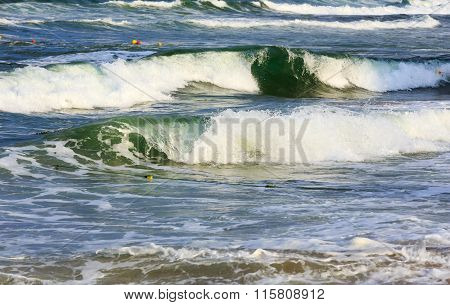 Sea Storm And Waves. Background.