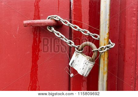 Rusted Lock With Seal