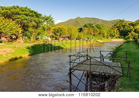 Pai River And Landscape (thailand)