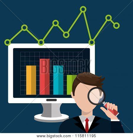 Analitycs search icon