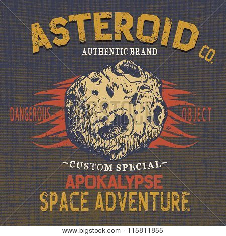 Vector logo of asteroid