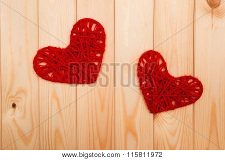 Valentines Day Background. Two Hearts