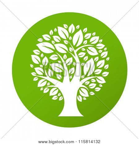 Eco Tree Symbol, Vector Illustration