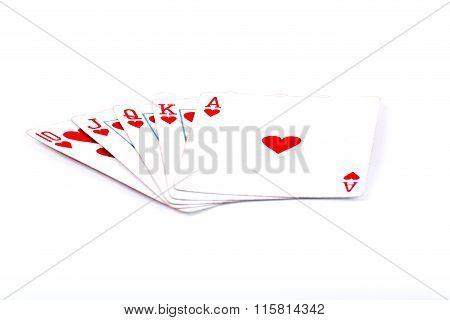 Heart Royal Flusch