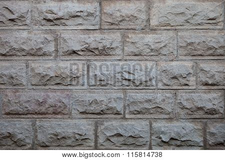 Grey Brick  Wall Surface Background