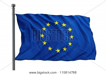 European Union flag consisting of blue and yellow colors
