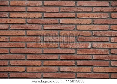 Red Brick  Wall Surface Background