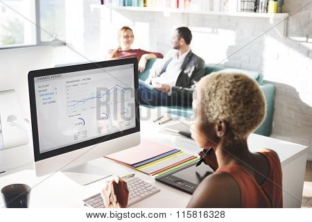 Business People Analysis Thinking Finance Growth Success Concept