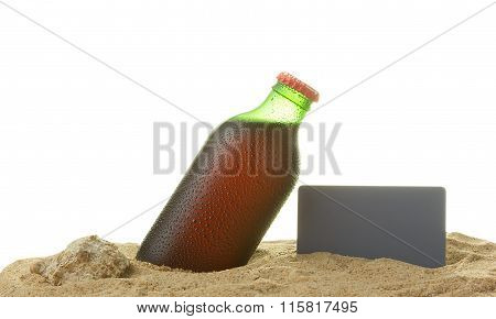 Bottle With Water Drops