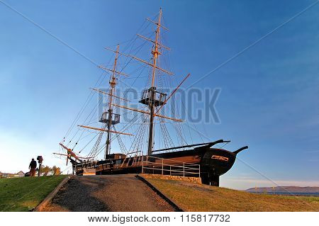 ALBANY, AUSTRALIA - NOVEMBER 15, 2012: The Amity was a 148 ton brig used in the early nineteenth cen
