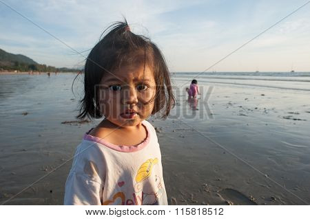 Portrait Of A Girl From Thailand