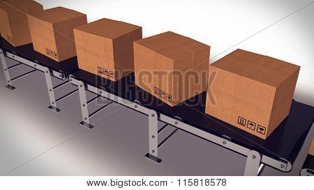 Packages Delivery And Mail Service Shipment Concept.