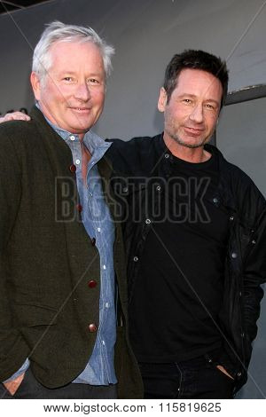 LOS ANGELES - JAN 25:  Daniel Ducovny, David Duchovny at the David Duchovny Hollywood Walk of Fame Star Ceremony at the Fox Theater on January 25, 2016 in Los Angeles, CA