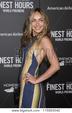 LOS ANGELES - JAN 25:  Zella Day at the The Finest Hours World Premiere at the TCL Chinese Theater IMAX on January 25, 2016 in Los Angeles, CA