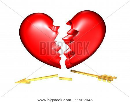 Big red and chubby broken heart