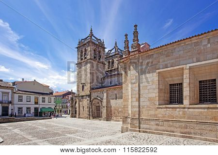 Braga, Portugal - July 27, 2015: Braga Cathedral, the oldest of all cathedrals in Portugal and a main Catholic worship place