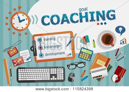 Coaching Design Concept. Typographic Poster.