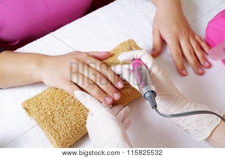 Nails Treatment Closeup