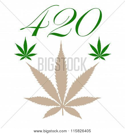 A marijuana leaf