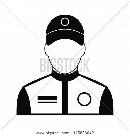 Car racer black simple icon