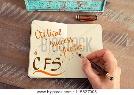Business Acronym Cfs Critical Success Factor