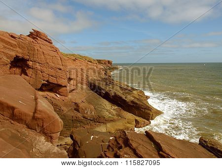 Cliffs in Arbroath.