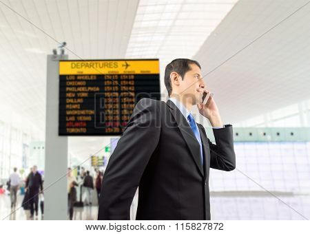 Businessman Walking At The Airport