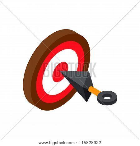 Ninja weapon kunai throwing knife with target