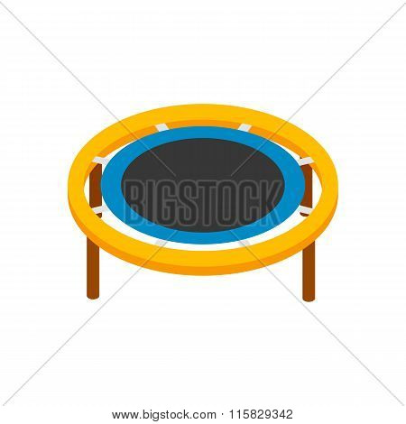 Trampoline jumping isometric 3d icon