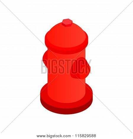 Fire hydrant isometric 3d icon