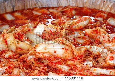 Korean Style Fermented Spicy Cabbage