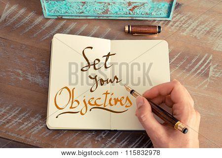 Handwritten Text Set Your Objectives