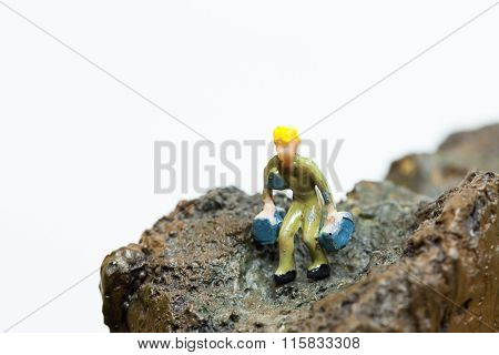 Searching And Being On The Top Of Everything Concept - This Can Indicate Two Ways, Worker Looking Fo