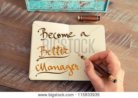 Handwritten Text Become A Better Manager