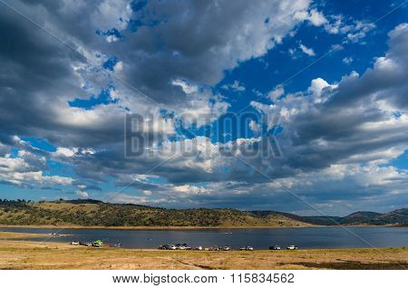 Australian landscape with dramatic sky