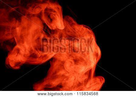 Abstract Red Smoke Hookah.