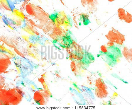 Abstract Stains In A Children Style.
