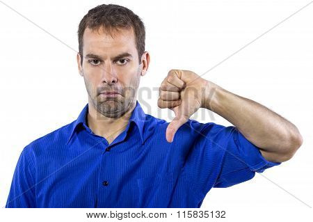 Businessman in Blue Shirt
