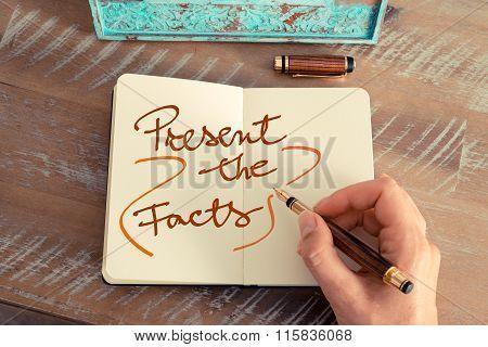 Handwritten Text Present The Facts