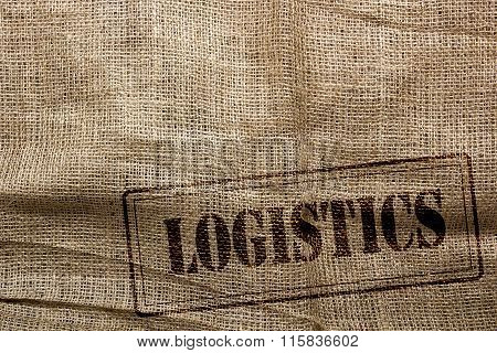 Background Of Burlap For Packaging And Further Logistics