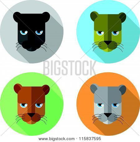 panther's head icons