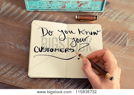 Handwritten Text Do You Know Your Customers?