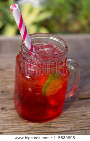 Strawberry Italian Soda.