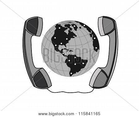 Business negotiations telephone communication.