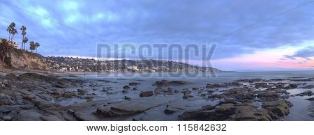 Panoramic view of Main beach in Laguna Beach
