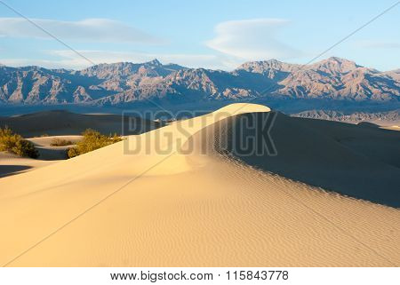 Curved Ridges In Death Valley