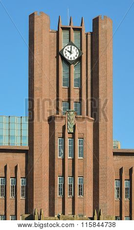 Clock Tower Building In Tokyo University; 10.00 A.m.; Japan